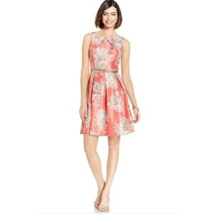 Jessica Howard floral fit flare belted dress